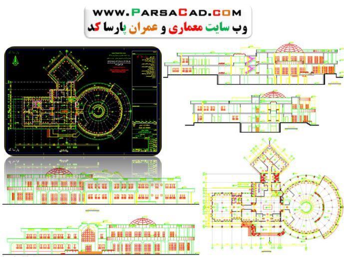 نقشه کتابخانه,دانلود نقشه کتابخانه,دانلود پلان اتوکد کتابخانه,نقشه معماری کتابخانه,پلان معماری کتابخانه