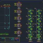 پلان اتوکدی ساختمان بتنی,پلان اتوکدی ساختمان فلزی,دانلود نقشه ساختمان فلزی