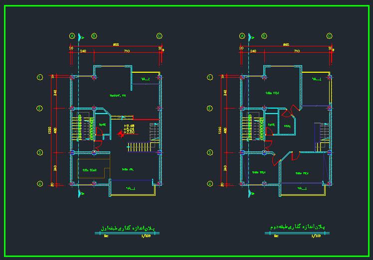 دانلود نقشه اتوکدی ساختمان 3 طبقه مسکونی + پرسپکتیو ساختمان - نقشه ...... نقشه های معماری,پروژه های معماری,سایت معماری پارسا کد,مرجع معماری ایران