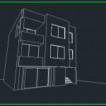 ساختمان 3 طبقه مسکونی,پرسپکتیو ساختمان مسکونی,پرسپکنیوهای ساحتمان,3d ساختمان مسکونی,سه بعدی از ساختمان مسکونی 3 طبقه