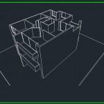 پرسپکنیوهای ساحتمان,3d ساختمان مسکونی,سه بعدی از ساختمان مسکونی 3 طبقه