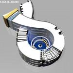 پرسپکتیو دانشکده معماری,رندر و پوستر دانشکده معماری,نقشه دانشکده معماری