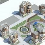 پرسپکتیو از پروژه طرح پنج معماری,دانلود پروژه مجتمع مسکونی برای طرح 5 معماری