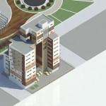 پلان و برش های مجتمع مسکونی - پلان های معماری - نقشه های معماری