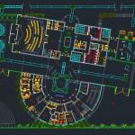 پلان کامل دانشکده معماری - طرح کامل دانشکده معماری - شیت بندی دانشکده معماری