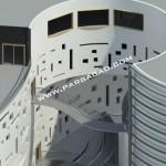 حجم مجتمع تجاری - ساختمان تجاری - پرسپکتیو مجتمع تجاری