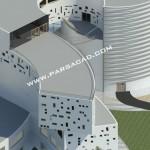 پلان مجتمع تجاری - نقشه های ساختمان تجاری - معماری - سایت معماری پارسا کد