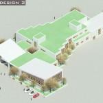 رندر نقشه مدرسه 12 کلاسه,دانلود پروژه طراحی معماری 2,پروژه مدرسه برای طرح 2 معماری