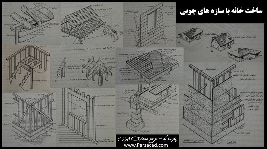 مقاله در مورد ساخت خانه با سازه های چوبی 40 صفحه - مقالات معماری ...ساخت خانه با سازه چوبی,خانه چوبی,دتایل های خانه چوبی,دیتیل اجرایی
