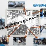نقشه وضع موجود میدان تجریش - کاربری های میدان تجریش - فضاهای عمومی و خصوصی میدان تجریش