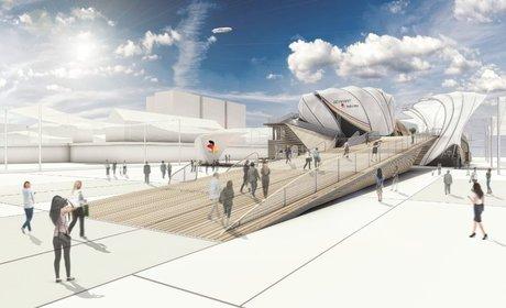 غرفه آلمان در نمایشگاه معماری اکسپو میلان 2015