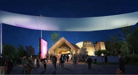 غرفه بلژیک در نمایشگاه معماری اکسپو میلان 2015