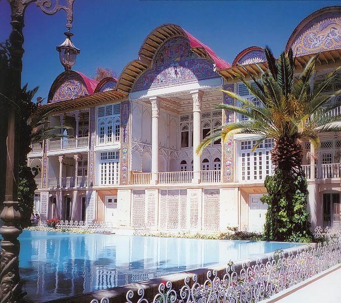 باغ ارم شیراز,بنای زیبای باغ ارم شیراز,تصویر بنای باغ ارم شیراز,معماری زیبای باغ ارم شیراز