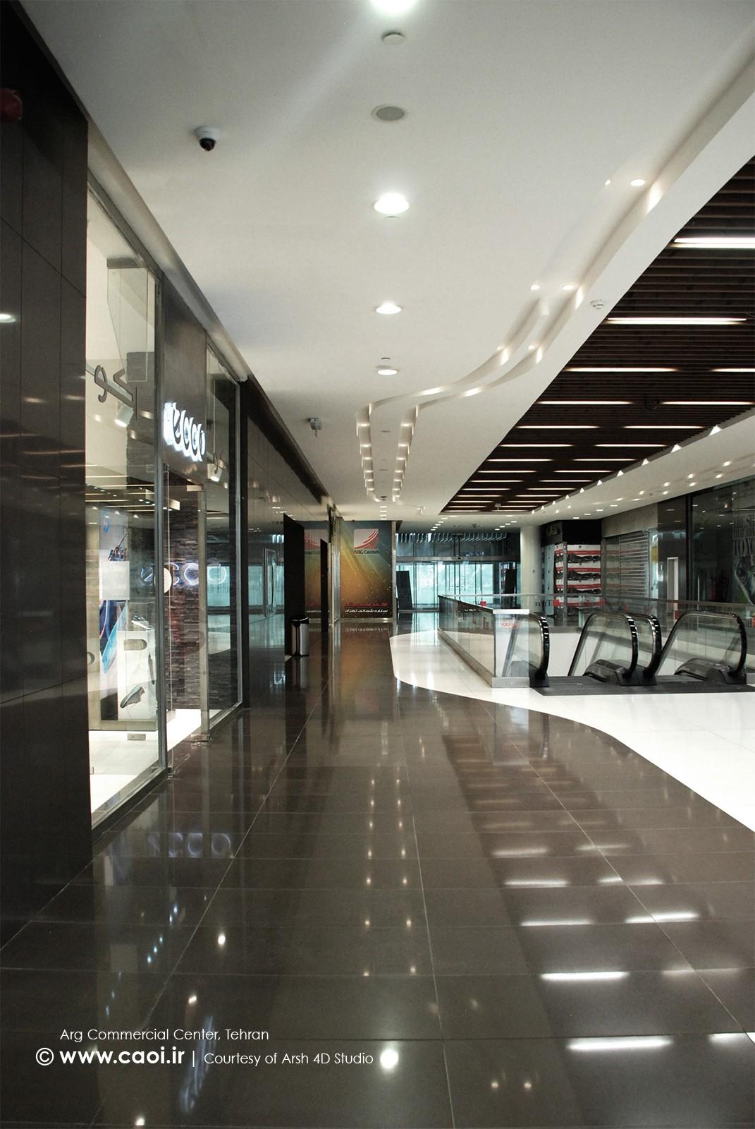 طراحی داخلی مجتمع تجاری ارگ در تجریش تهران