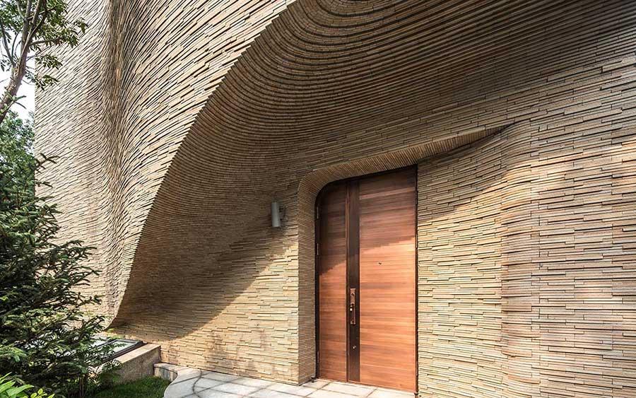 طراحی ورودی ویلا,نمای ویلایی,نمای ویلا,ورودی زیبا برای ساختمان های ویلایی