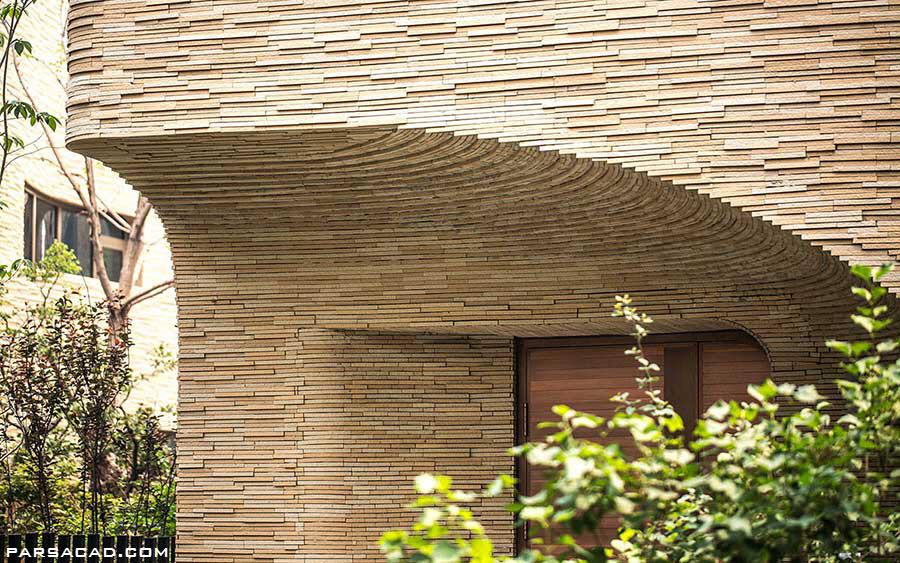 طراحی نمای ویلای مدرن و زیبا,ویلای مدرن و زیبا,پارساکد,parsacad,parsacad.com,نمای خلاقانه ویلا,