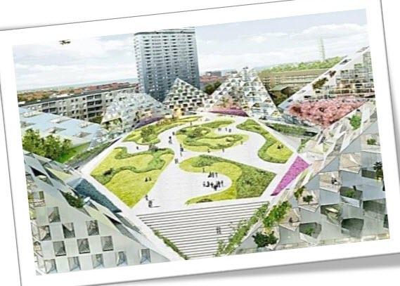 نمونه های تجارب عملی مفهوم دهکده شهری,دهکده شهری لیکلند,دهکده شهری بیلستون,الگوی دهکده شهری معمار پایدار و سبز,معماری سبز,مقاله درباره دهکده شهری,مقاله برای طرح 5 معماری