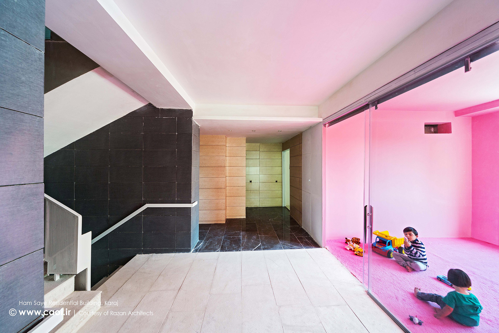 طراحی داخلی مجتمع مسکونی همسایه,دکوراسیون داخلی مجتمع مسکونی,اتاق بازی کودکان