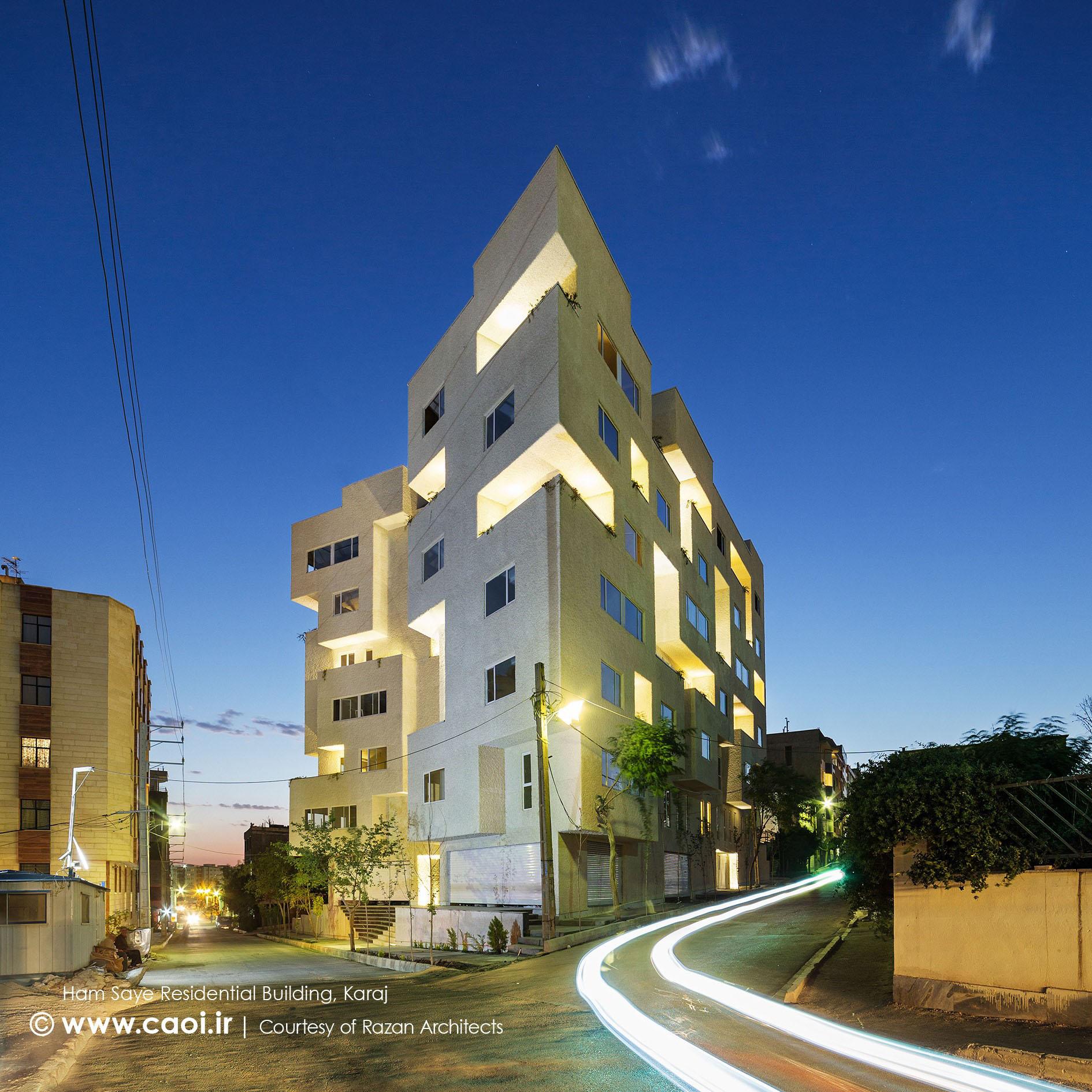 طراحی نمای مجتمع مسکونی,نمای مجتمع مسکونی,طراحی نمای ساختمان مسکونی