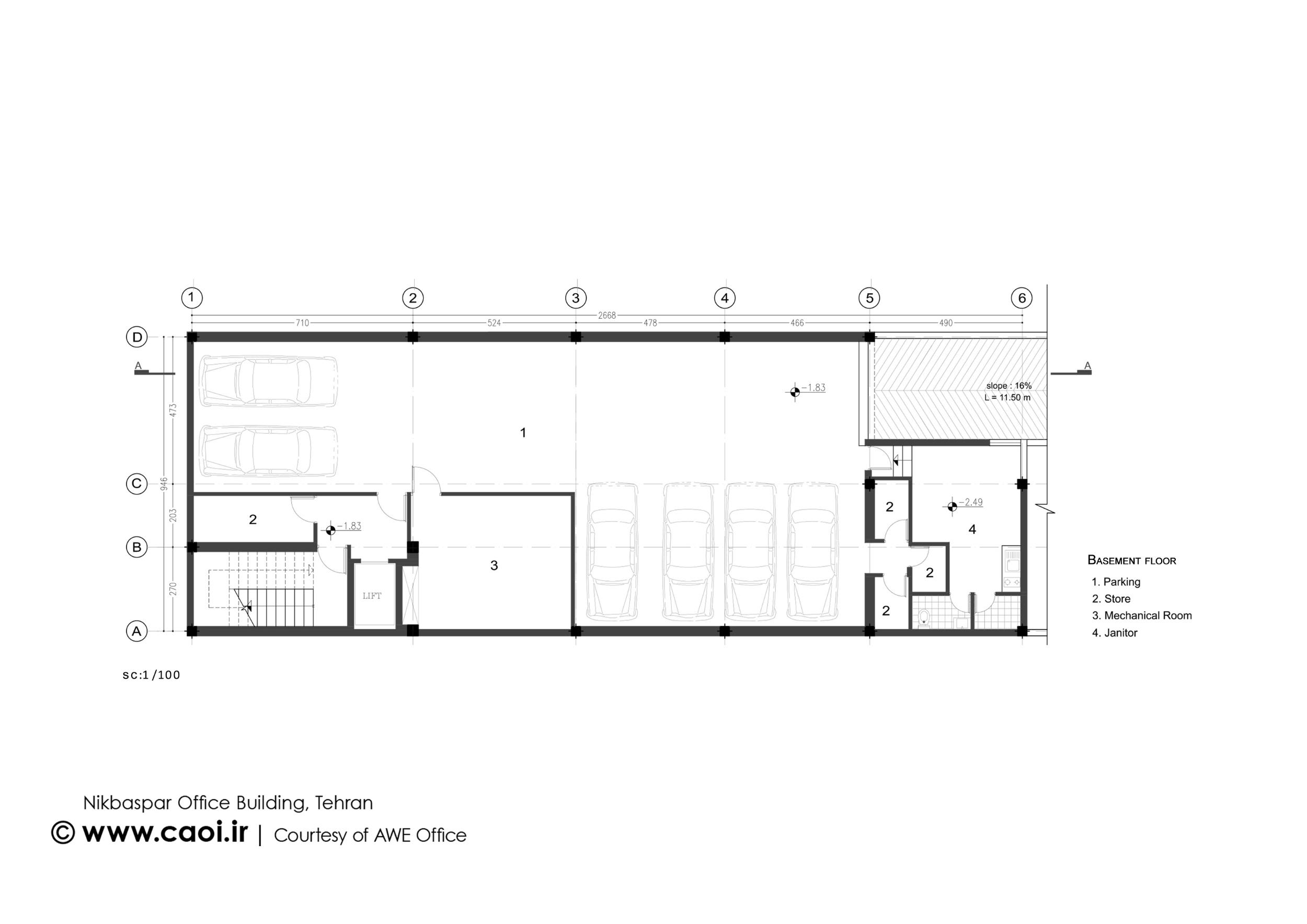 پلان ساختمان اداری,نقشه ساختمان اداری,نقشه معماری ساختمان اداری