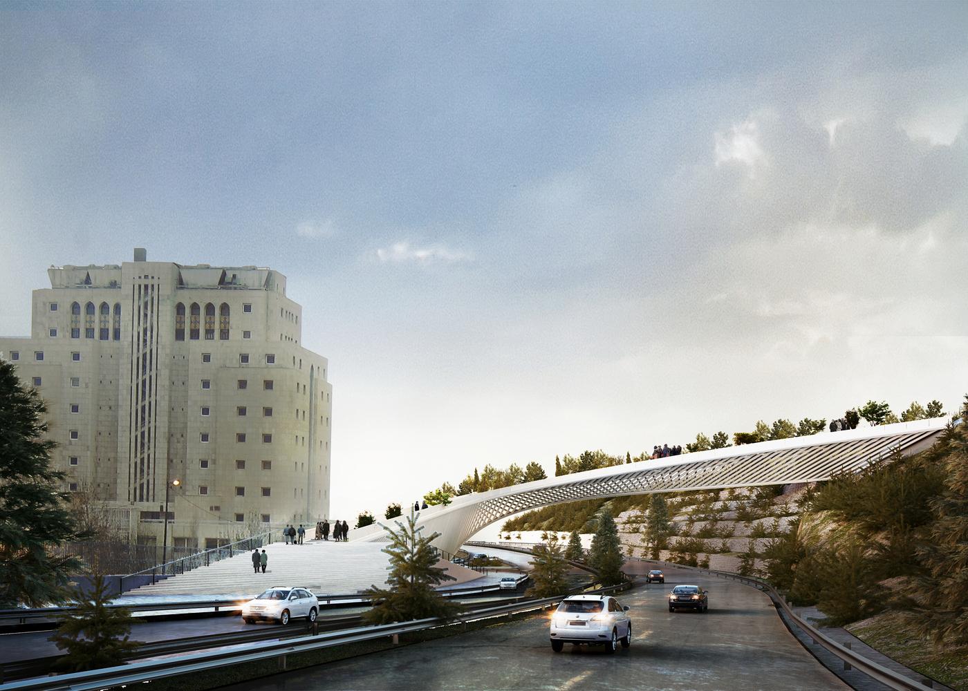 طراحی پل عابر پیاده در اراضی عباس آباد,گروه معماری پوست سوم
