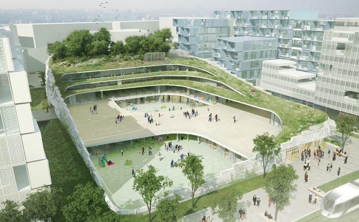 طراحی و ساخت مدرسه ابتدایی در فرانسه ، تنوع زیستی در محیط های شهری