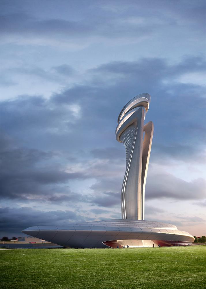 طراحی برج کنترل ترافیک فرودگاه جدید استانبول