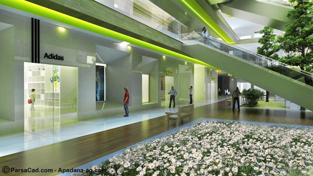 طراحی داخلی مجتمع تجاری تفریحی در رشت,طرح مرکز تجاری تفریحی