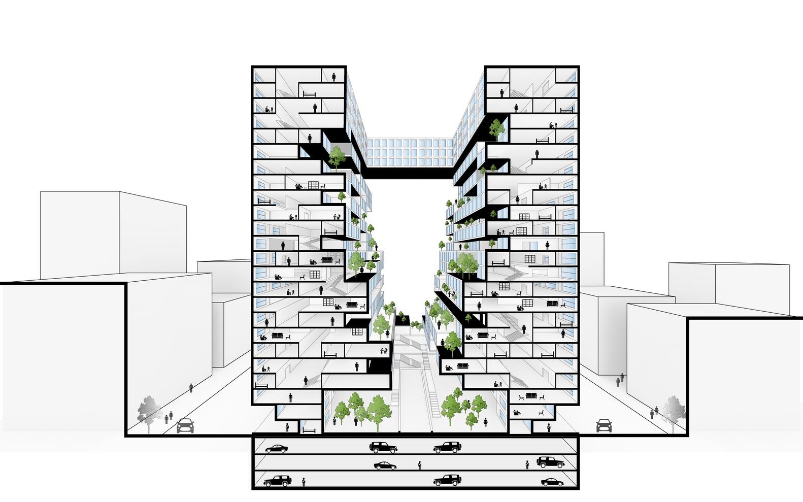 طراحی و معماری برج مسکونی اکولوژیک ونداد,طراحی برج مسکونی,مشهد,ایران,معماری,طراحی,پارساکد,نقشه برج مسکونی,طراحی شهر عمودی مسکونی,parsacad,