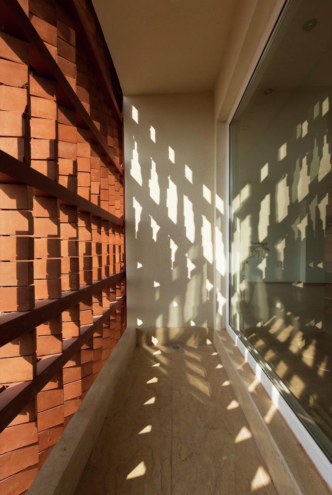 طراحی داخلی ساختمان مسکونی آجرپوش شهرک اکباتان