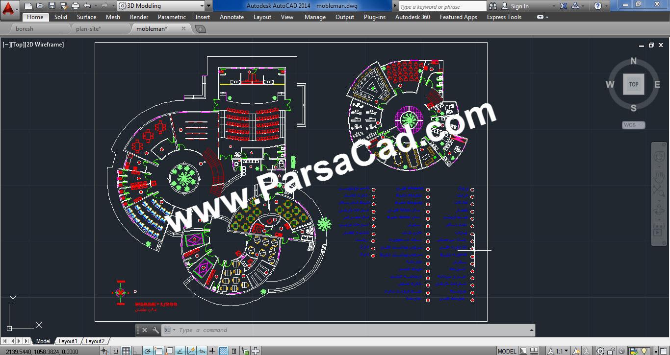 نقشه طراحی فرهنگسرا,دانلود پلان معماری فرهنگسرا,نقشه معماری,پلان معماری,معماری,دانلود نقشه معماری,دانلود پلان معماری
