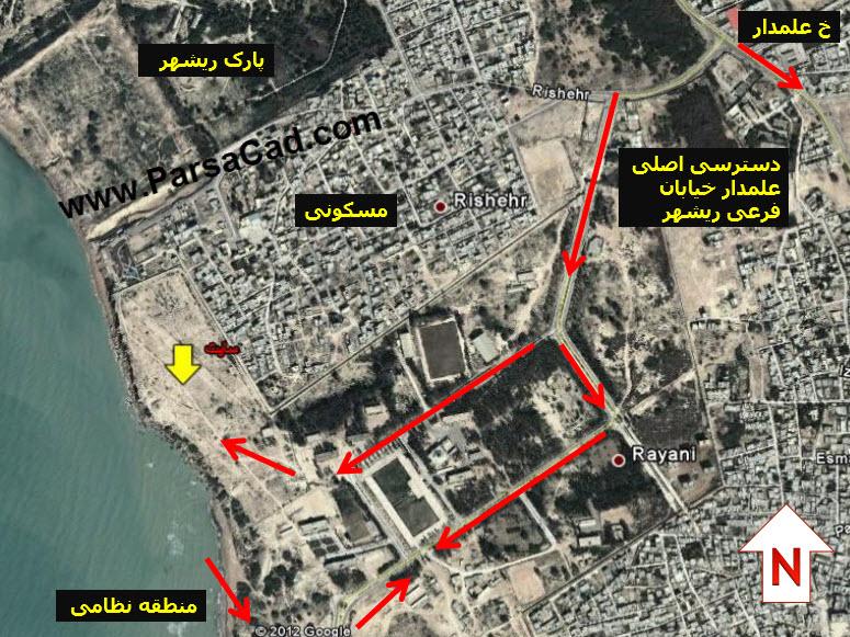 محل سایت مورد نظر در شهرستان بوشهر برای طراحی ویلا