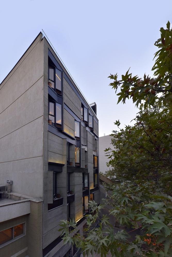 معماری,ساختمان,آپارتمان مسکونی,طراحی,طراحی نما,نقشه ساختمان مسکونی,پارساکد,parsacad