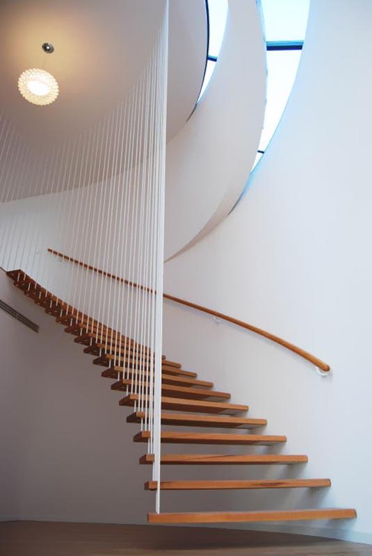 راه پله مدرن و زیبا,انواع راه پله,طراحی راه پله