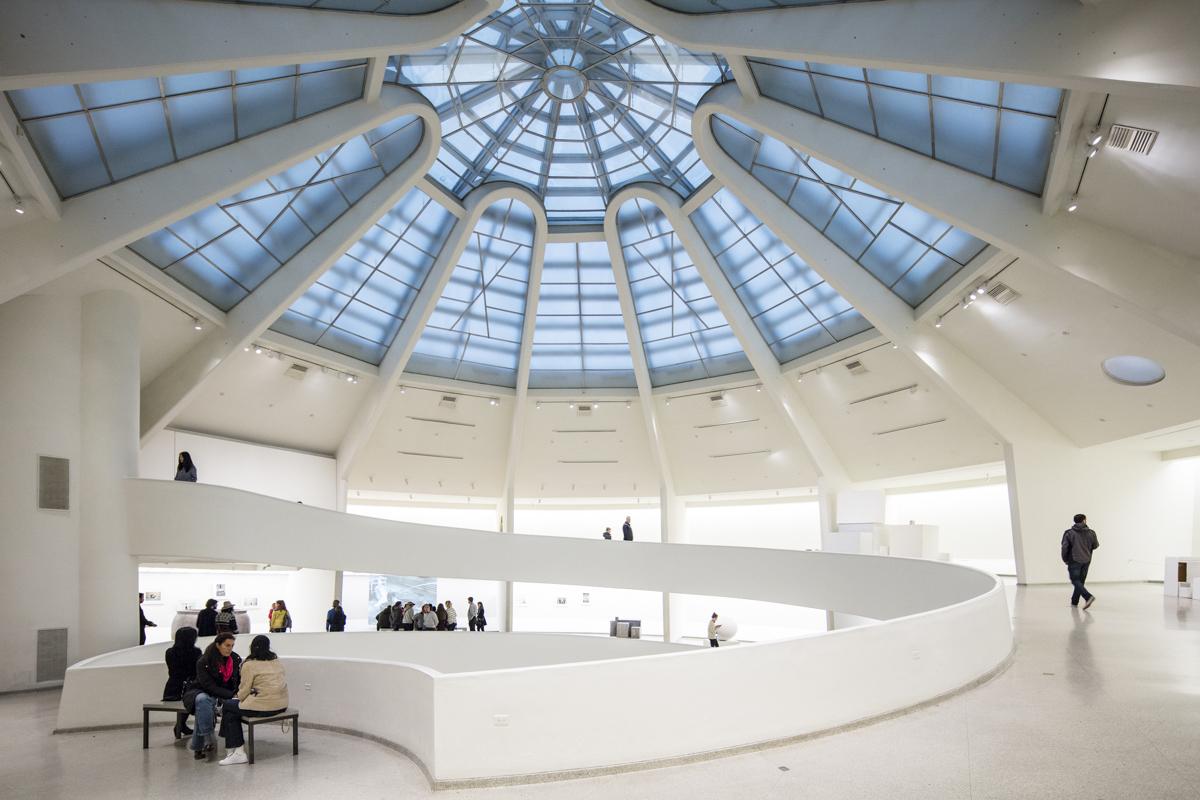 طراحی داخلی موزه گوگنهایم نیویورک شاهکار معماری فرانک لوید رایت,نقشه و پلان موزه گوگنهایم