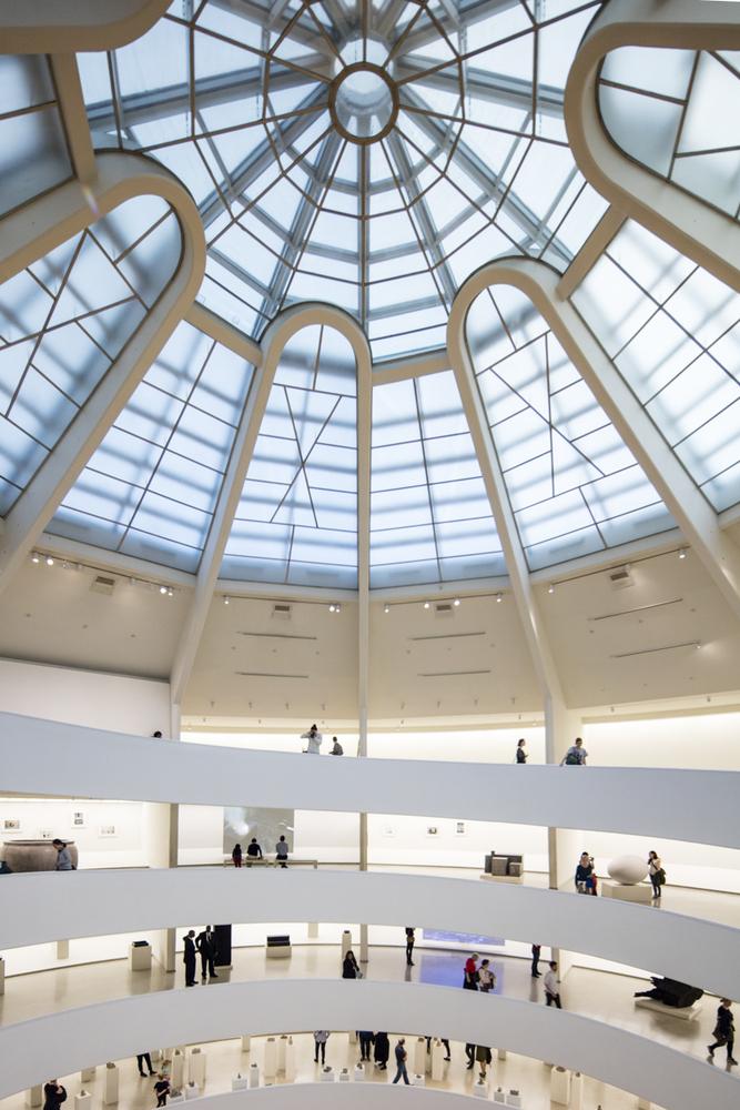 معماری داخلی موزه گوگنهایم نیویورک شاهکار معماری فرانک لوید رایت,نقشه و پلان موزه گوگنهایم